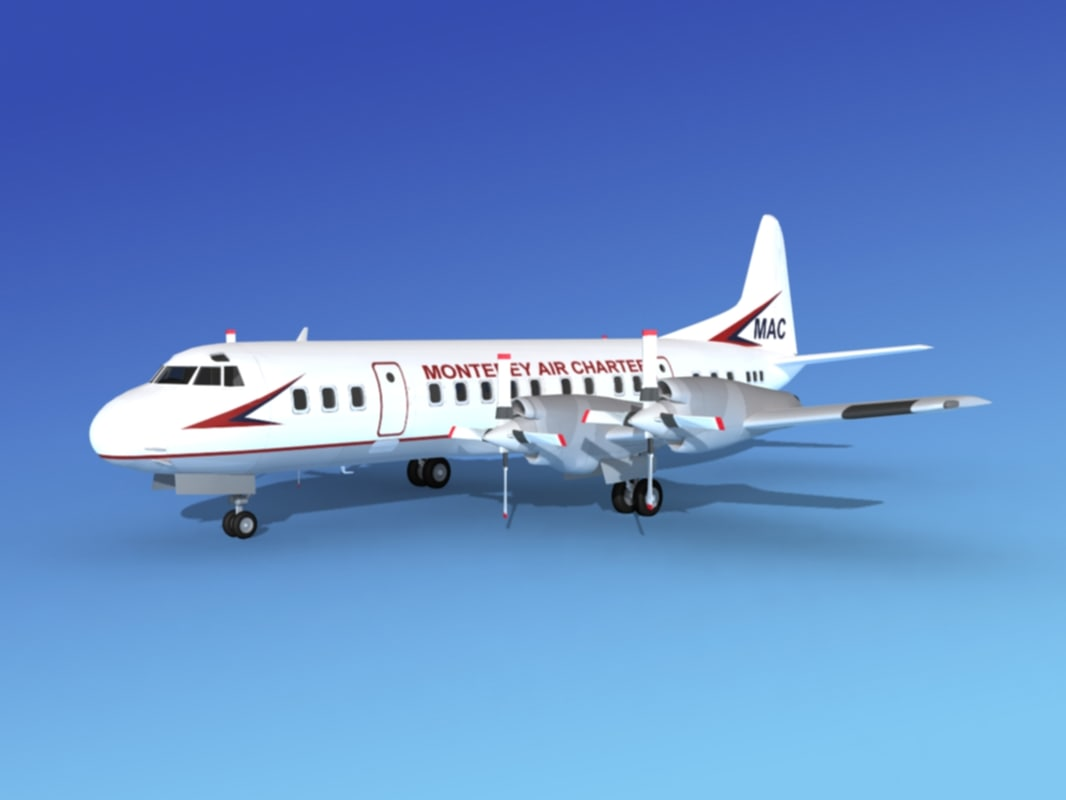 propellers electra lockheed 3d model