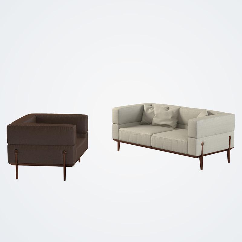max giorgetti ago sofa chair