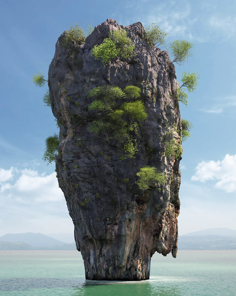 3d ko tapu rock thailand model