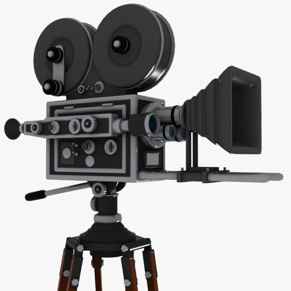 3d model vintage movie camera