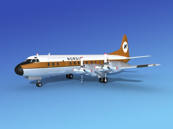 propellers electra lockheed 3d max