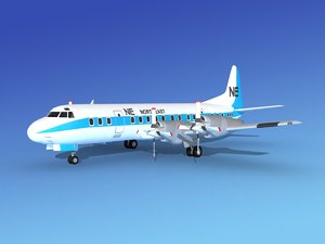 propellers electra airline lockheed 3d model