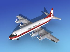 3d propellers electra lockheed cargo model