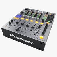 3d model dj mixer pioneer djm-850