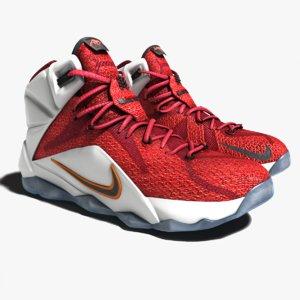 lebron james 12 shoes 3d obj