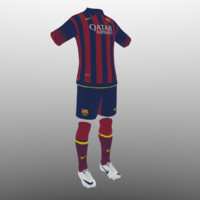 soccer kit, clothes, barcelona - shirt shorts shoes