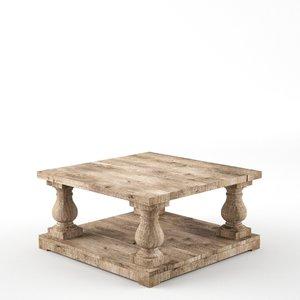 max balustrade salvaged coffee table