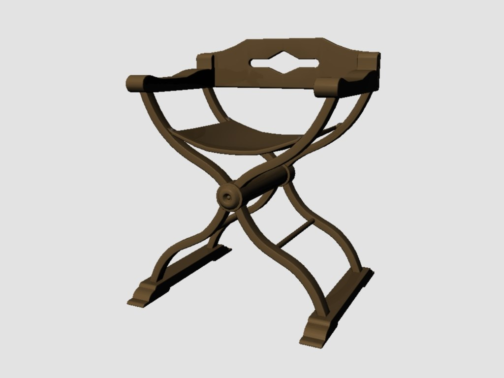 3d medieval chair model