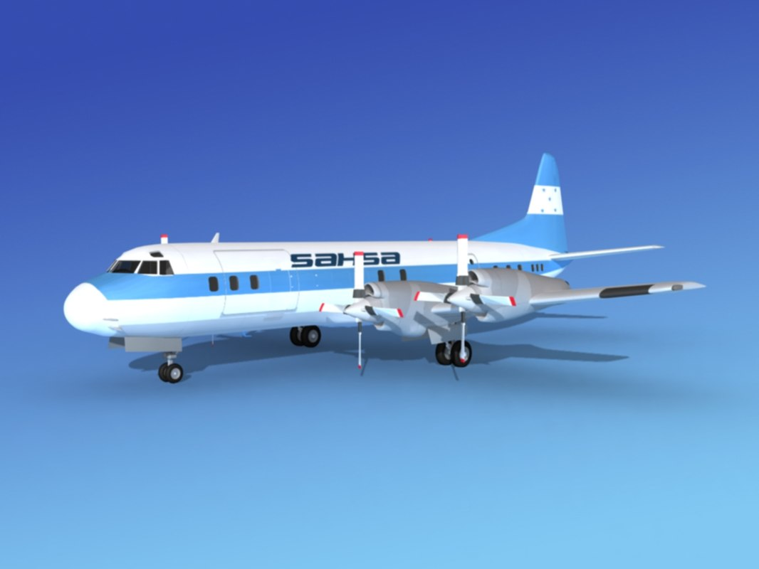 3d propellers l188 electra lockheed model