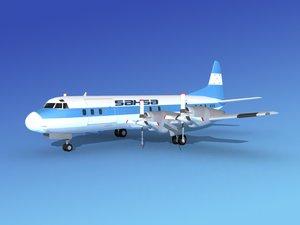 3d propellers l188 electra lockheed model