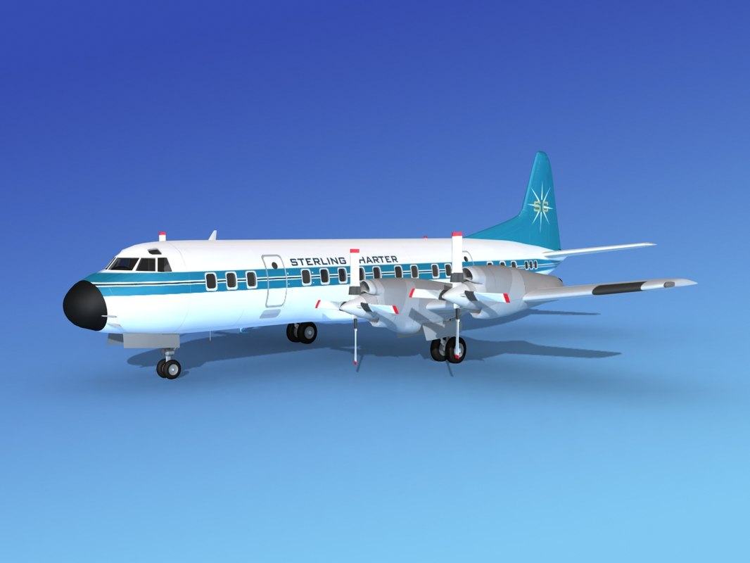 propellers l188 electra lockheed 3d model