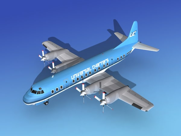 propellers electra lockheed charter 3d model