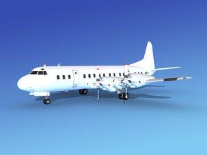 3d model propellers l188 electra lockheed