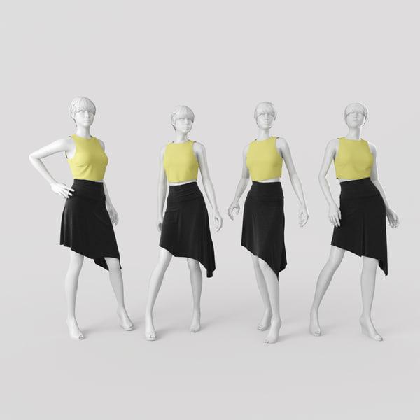 mannequin 4 3d max