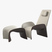 giorgetti eva lounge chair 3ds