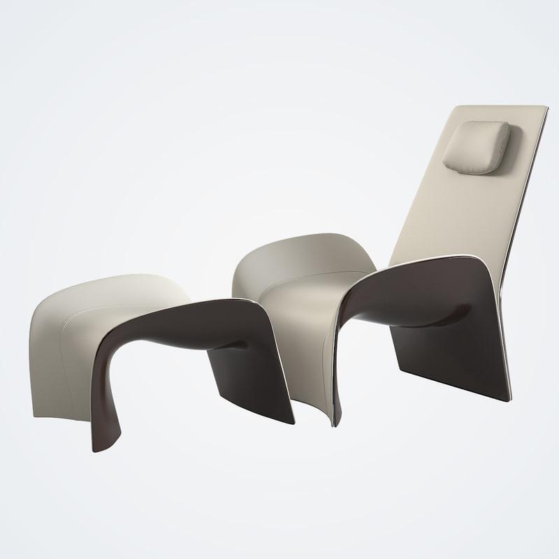 giorgetti eva lounge chair 3ds