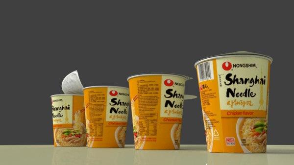 nong shim shin cup 3d model