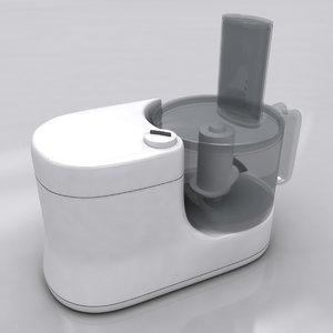 food processor 3d model