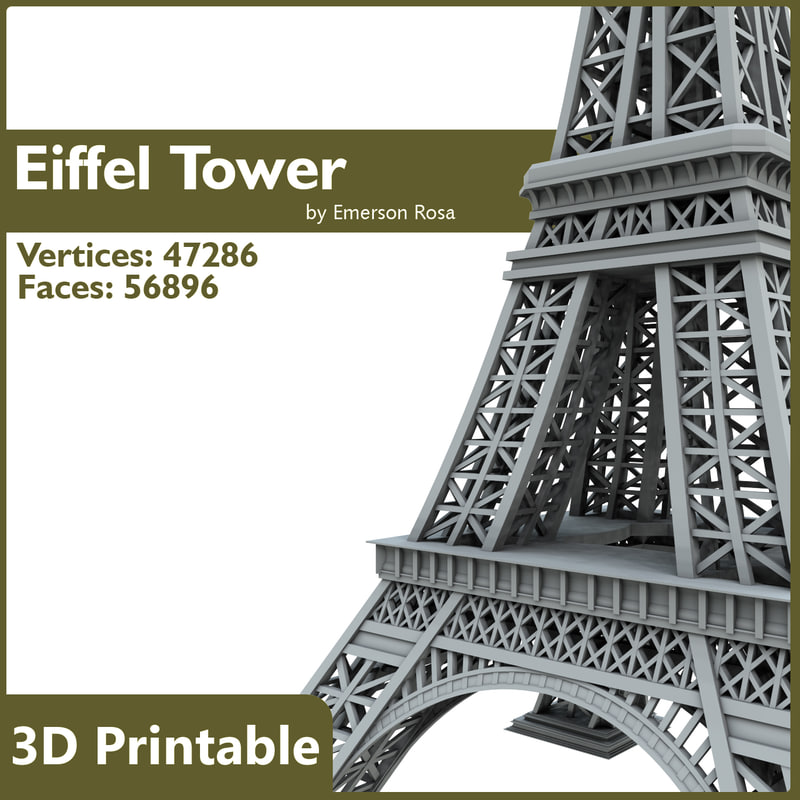 Printable eiffel tower for Eiffel tower model template