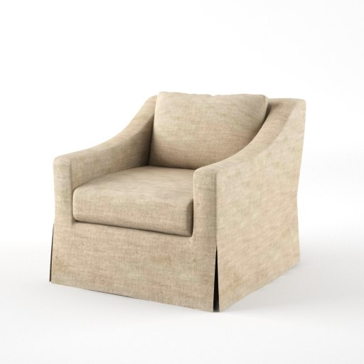 3ds max belgian classic lounge chair