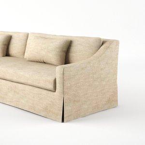 3ds max belgian classic sofa