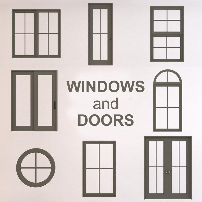 sc 1 st  TurboSquid & 3d glass windows doors model