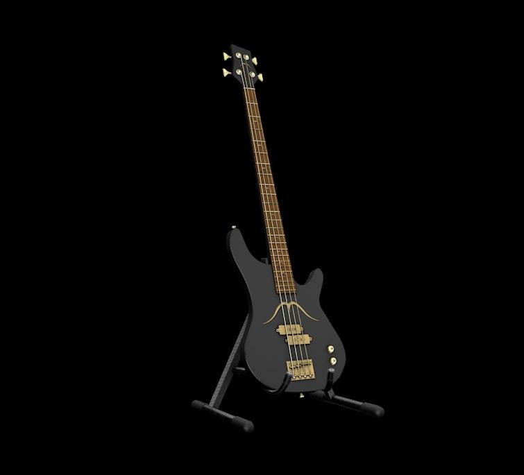 3d x bass guitar