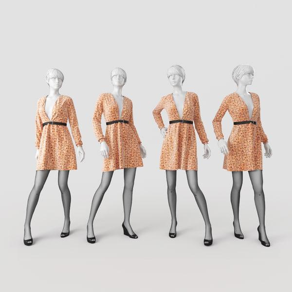 obj mannequin dress
