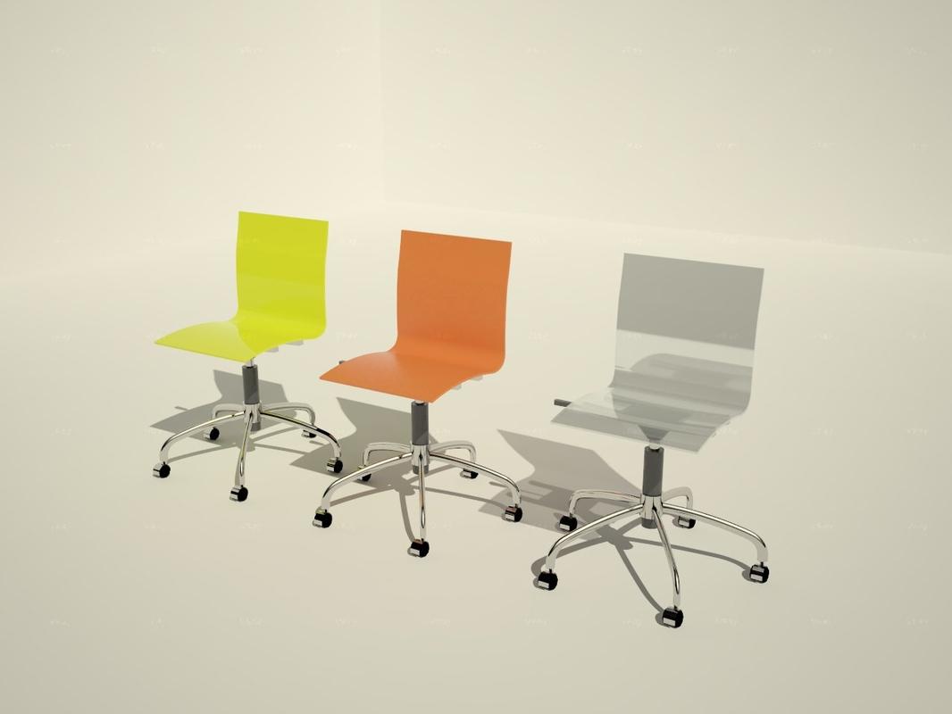 3d model gel domitalia chair