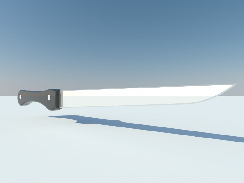 3d model knife nife