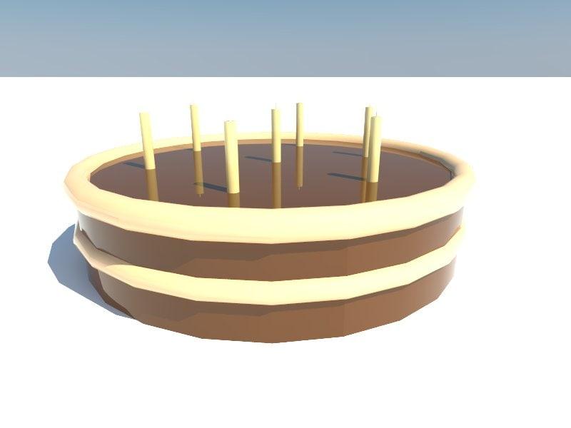 cake 3d obj