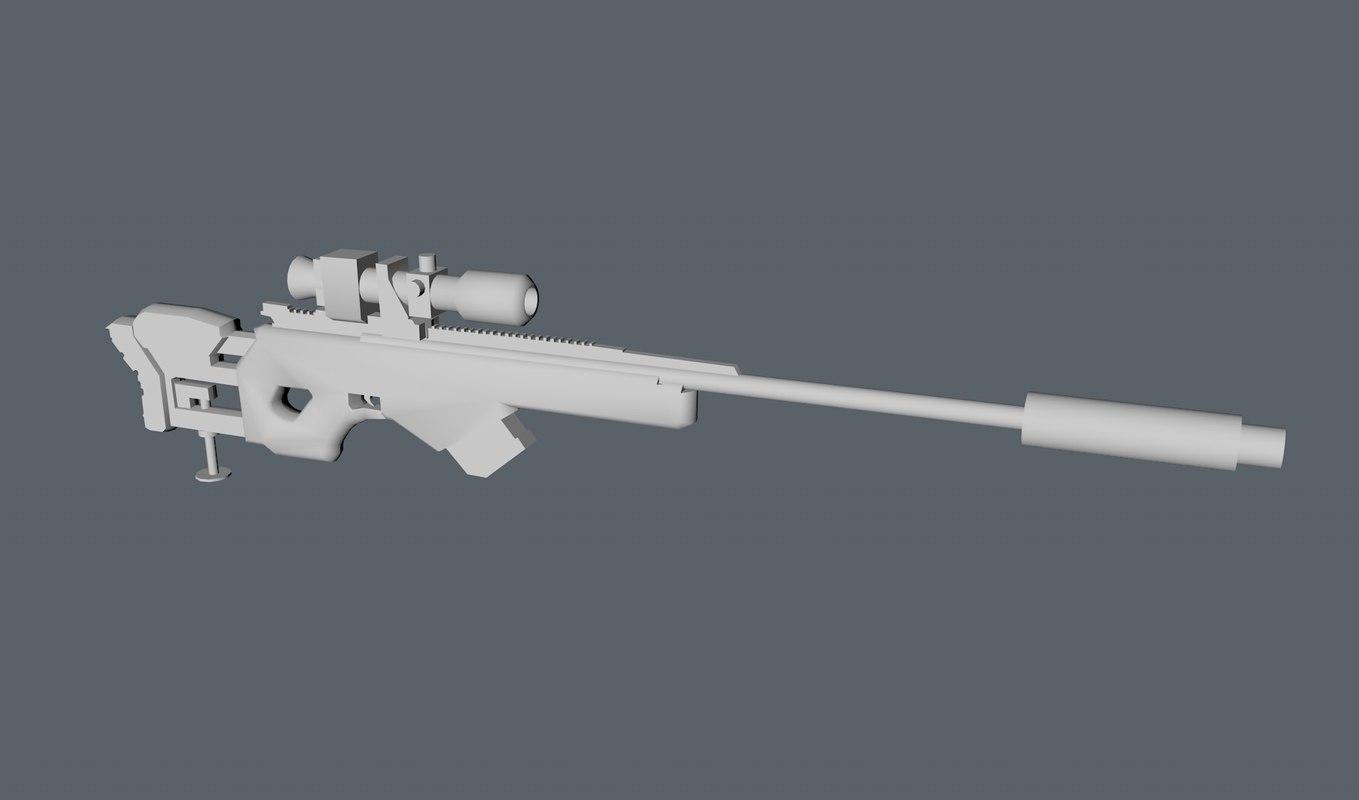 3dsmax sniper rifle concept