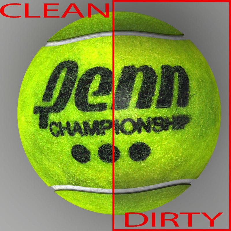 tennis ball penn 3d model