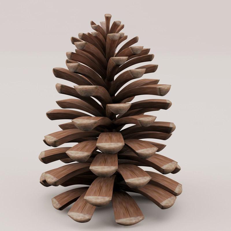 pine cone 3d max