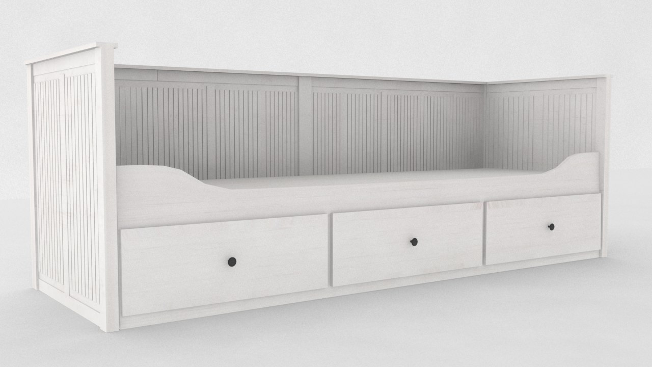 3d Max Ikea Hemnes Daybed Frame