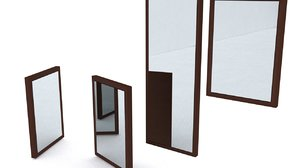 3d ikea hemnes mirrors model