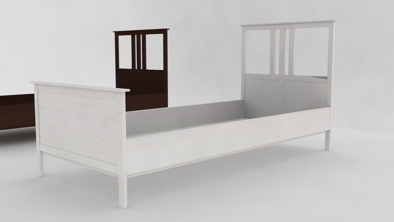 Ikea Hemnes Bedbank.Ikea Hemnes Bed Frame 3d Max
