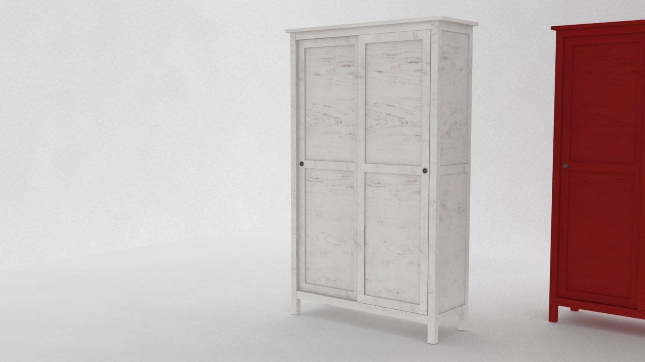 3d model ikea hemnes wardrobe 2