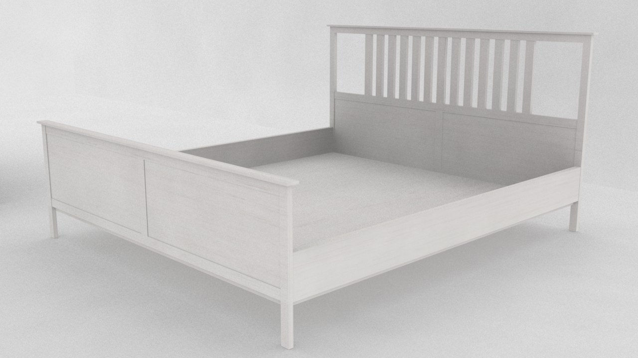 ikea hemnes bed frame 3d max