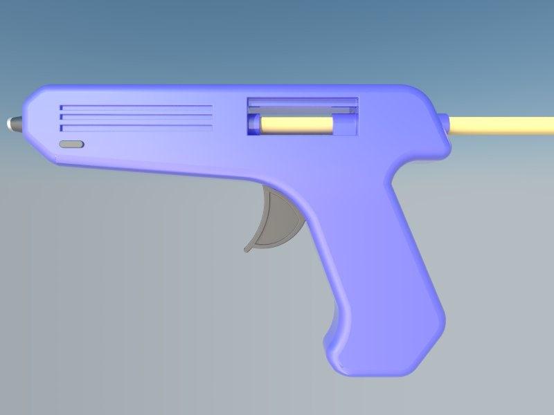 hot gun glue 3d model