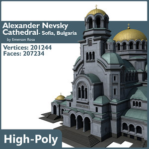 alexander nevsky cathedral sofia 3d model