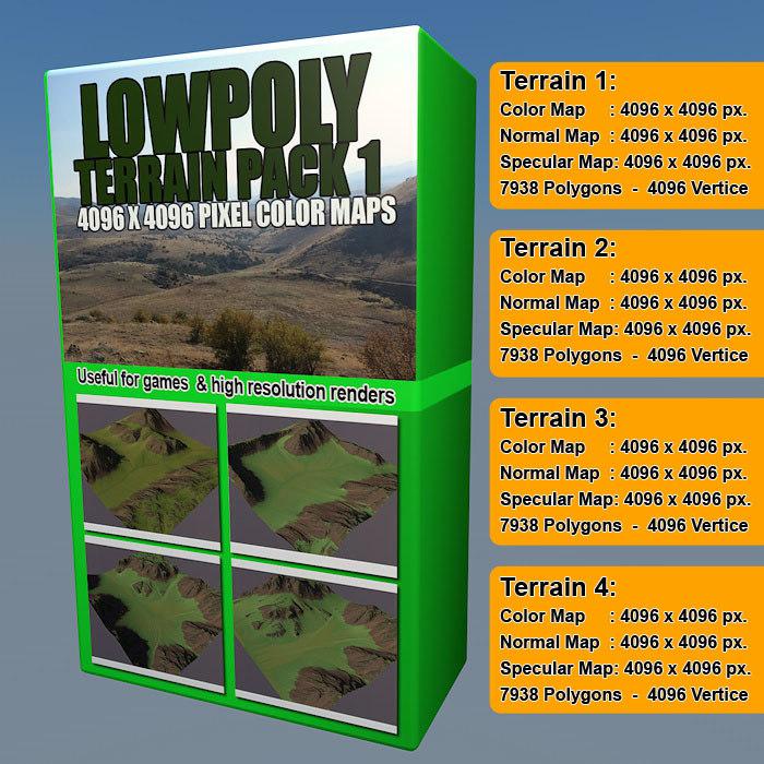 3d level terrain pack