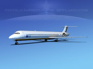 3d mcdonnell douglas md-80 airliners model