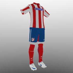soccer kit clothes atletico 3d 3ds
