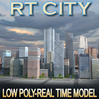 3d city building blocks real time