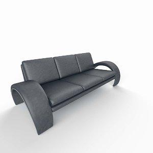 3d modern triple sofa