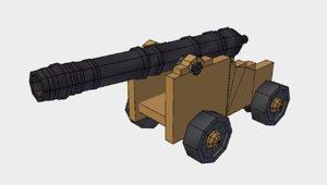 3d cannon pirate