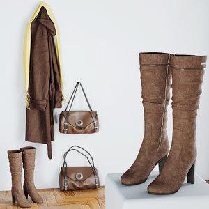 3d model boots bag