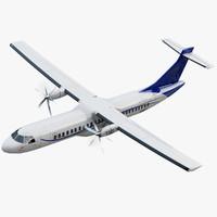 3d atr 600 airplane model