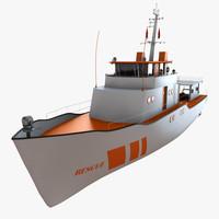3d rescue ship model